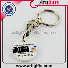 2013 Plastic trolley coin keychain with CMYK printed