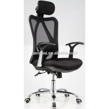 High back durable frame headrest flexible mesh swivel chair
