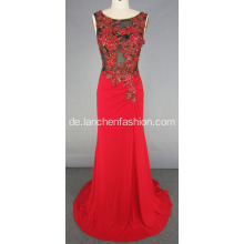 Illusion Sicke Celebrity Style langes Abendkleid