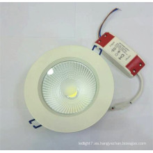 Downlight caliente de la COB del huerler de la venta 3-30w AC100-240V con CE & ROHS 15w cob llevó el downlight