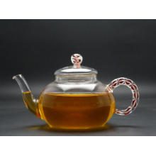 High Quality Borosilicate Heat Resistant Glass Teapot with Filter Wholesale (GT021)