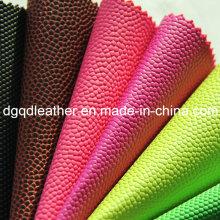 Cuero de PVC con bola de alta densidad y peeling fuerte (QDL-BP0048)