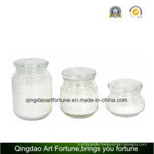 Glass Jar Candle Holder for Home Decoration