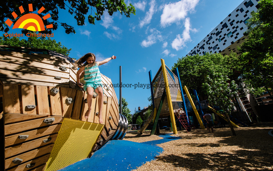 rubber mound climbing structure for kids