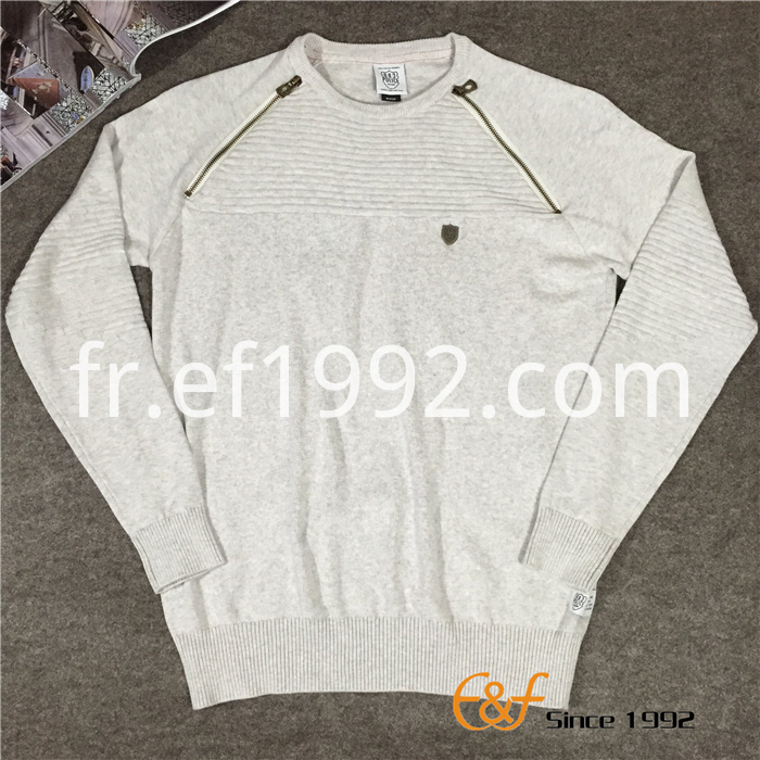 Fashion Crew Collar Slipover Sweater for Men
