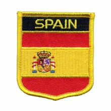 Benutzerdefinierte Spanien Flagge Schild Stickerei Patches mit PVC