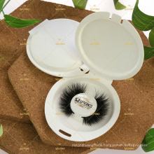 Faux mink lashes with the tray  friendly to the environment ECO trays