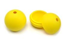 FDA 3 inci silikon ais bola acuan dengan warna kuning