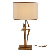 Luxury Modern Custom Simple Design Bedside Table Lamps With Fabric Shade