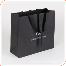 Matte paper bag high quality fancy material paper bag in black