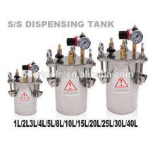stainless steel pressure tank 2L 10L 20L 40L for glue dispenser