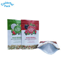 Customized super food granola packaging bags stand up pouch with zipper
