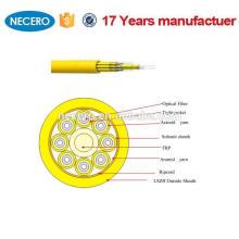 cabo interno do cabo ótico da fibra óptica da fuga do único modo 8core