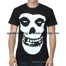 Heiße Großhandelskundenspezifische Baumwollkühle Mode-Siebdruck-Männer T-Shirt