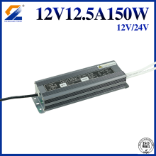 12V 150W Waterproof LED SMPS Untuk Strip LED