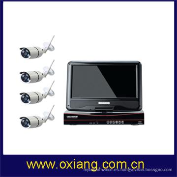 cámara de vídeo digital inalámbrica de IP WIFI NVR KIT videocámara dvr con visión nocturna