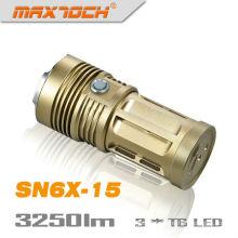 Maxtoch SN6X-15 3 * 4 * 18650 baterías linternas de bronce Cree T6 3250 lúmenes