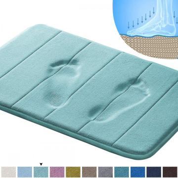 Comfity Memory Foam Bath Mat Toilet