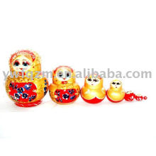 Muñeca de anidación de juguetes de madera