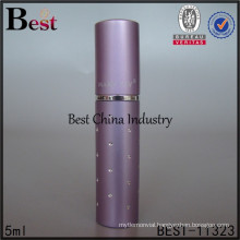 5ml wholesale purple travel perfume atomizers, silk printing service, OEM
