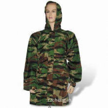 Military Raincoat, Made of 100% Polyester