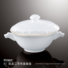 healthy japan style white special durable casserole with handle