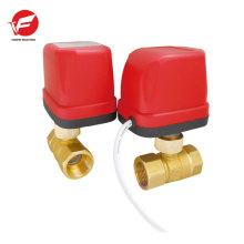 CWX-50K DN20 laiton femelle-femelle BSP AC220V CR02 motorisé laiton robinet à boisseau sphérique