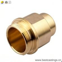 Peças giradas bronze do CNC da precisão de OEM / ODM