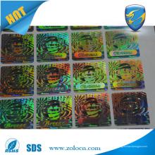 Etiqueta anti-falsificação anti-falsificação anti-falsificação Hologram Etiqueta de segurança holograma