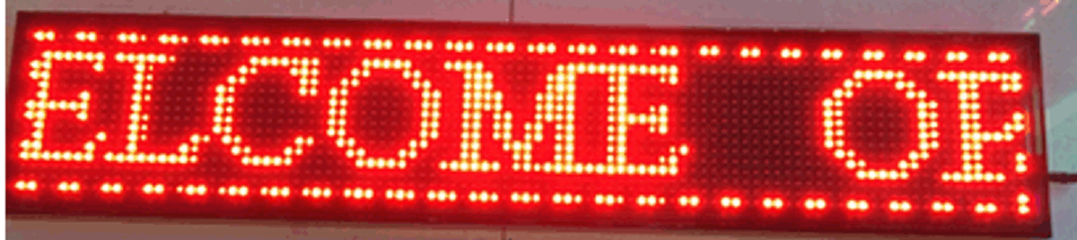 Single Red LED Display