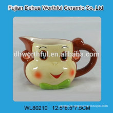 Wholesale elegant ceramic cream jug with monkey design