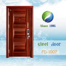 China El más nuevo desarrolla y diseña la sola puerta de seguridad de acero (FD-1007)