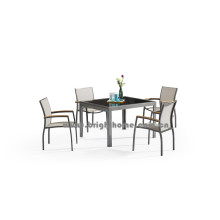 Nuevo diseño Outdoor Textilene Dining Set