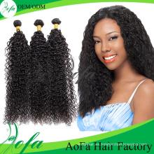 Clip para el cabello humano peruano de Remy en extensiones de cabello rizado