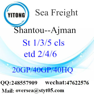 Shantou Port Sea Freight Shipping ke Ajman