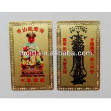 Carte en métal Bouddha