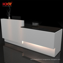 KKR prefabricated solid surface stone countertop reception office desk