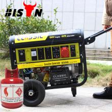 CLASSIC CHINA Portable Auto Start, konkurrenzfähiger Preis Home Natural Gas Generator, Easy Move mit Rädern 5KW Natural Gas Generator