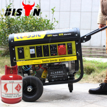 CLASSIC CHINA Portable Auto Start ,Competitive Price Home Natural Gas Generator,Easy Move With Wheels 5KW Natural Gas Generator