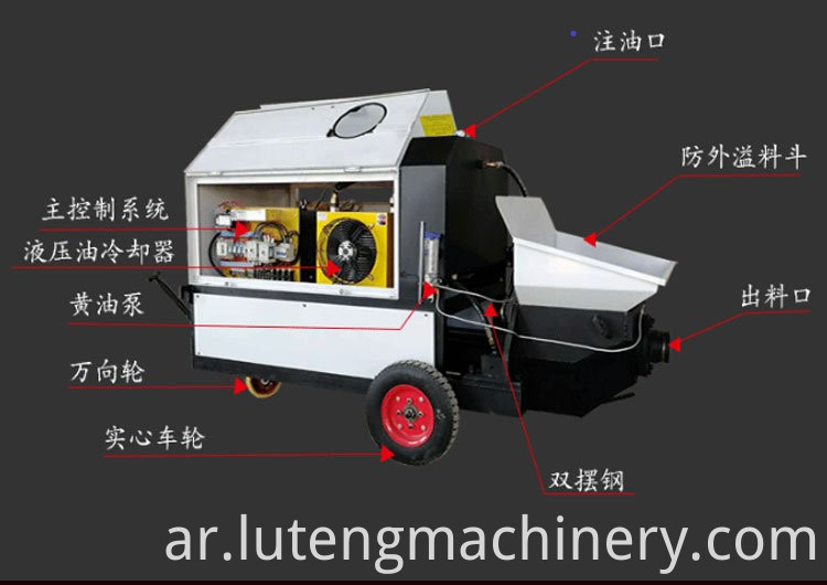 Conveying and spraying machine