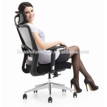 X1-02B chaise de bureau avec repose-pieds chaise de maille chaise pivotante