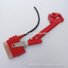 Colector de corriente con barra conductora aislada y unipolar para grúa