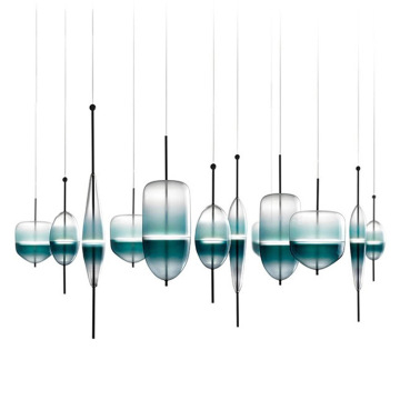 Bule Glass  Pendant Lamps