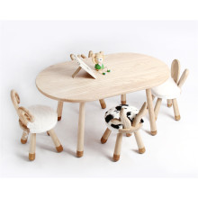 Wooden Animal Shape Soft Chair