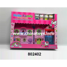 New Plastic Toy House Set with Feel Wheel Car (802402)