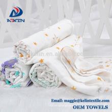 "KL2017 100% Organic Cotton Muslin Wrap Blanket 47*47"" Baby Muslin Swaddle"