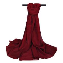 Conception meilleure vente bulle en mousseline de soie plaine épaisse lourde dupatta hijab africaine écharpe