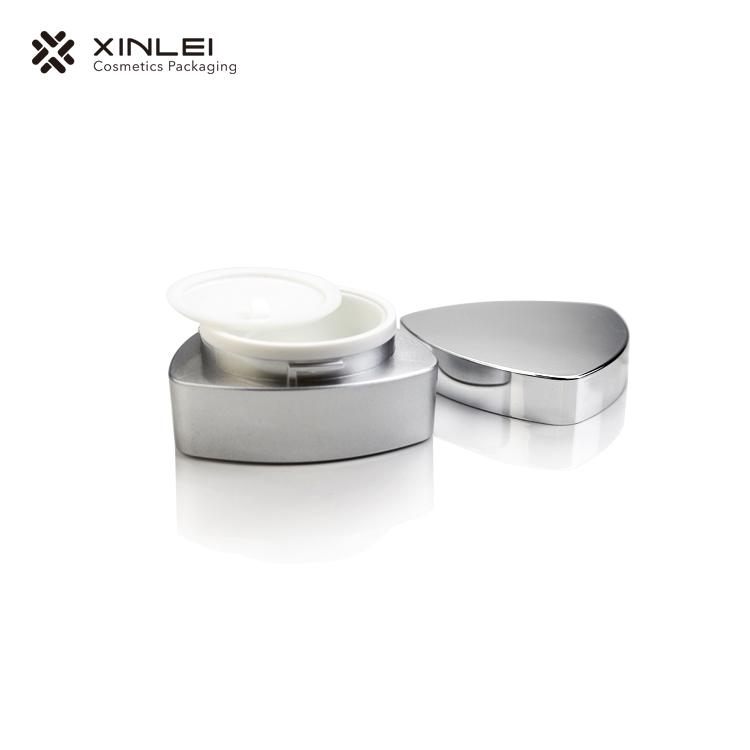 Triangle Shape Acrylic Cosmetic Cream Jar