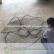rock fall cable protection rope mesh/rock riprap rope mesh