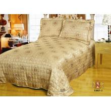 3pcs satiné / microfibres patchwork matelassé couvre-lit en satin
